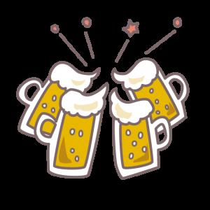 生ビールでコテージのパーティーを盛り上げる