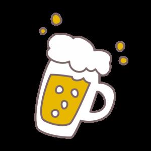 コテージで生ビール