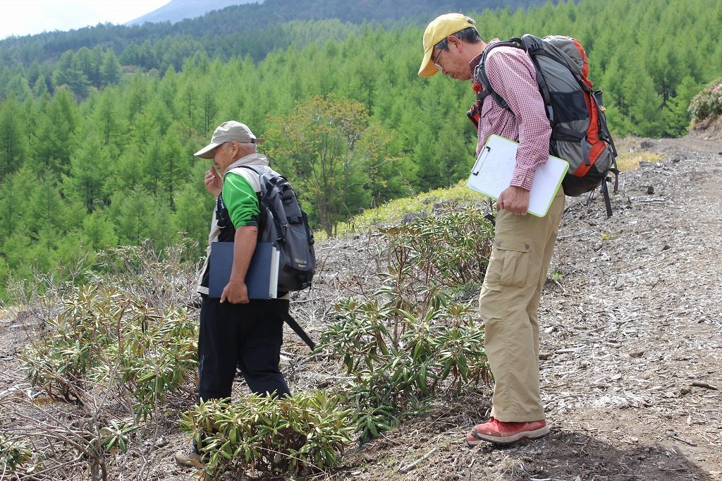 シャクナゲ園の高山植物に詳しいガイドツアーの講師陣