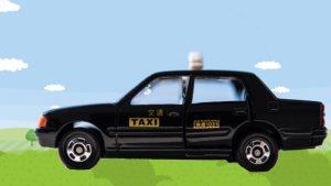 タクシーで軽井沢駅からコテージまで