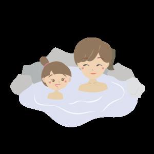 温泉で体を暖める