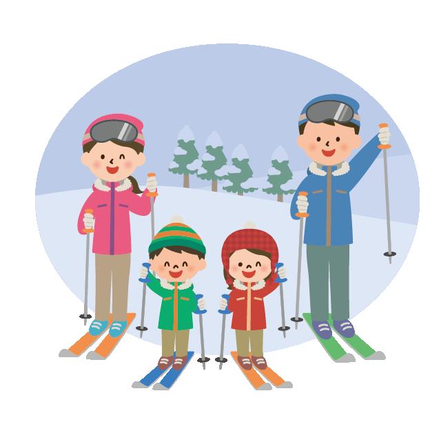 家族で楽しむスキーゲレンデ