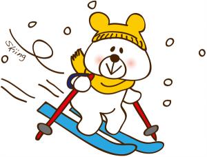 ファミリー向けのゲレンデでスキー