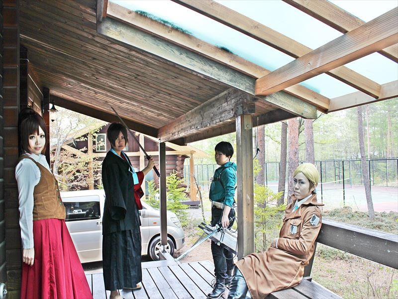 貸別荘ルネス軽井沢のコテージ「アン」で4人宿泊コスプレ