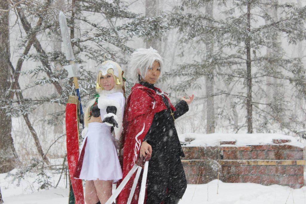 雪ロケ・コスプレイヤーさん