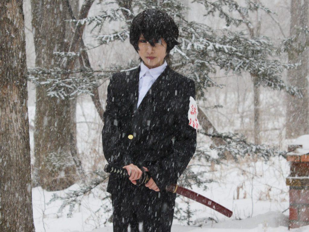 雪ロケでコテージ利用のレイヤーさん