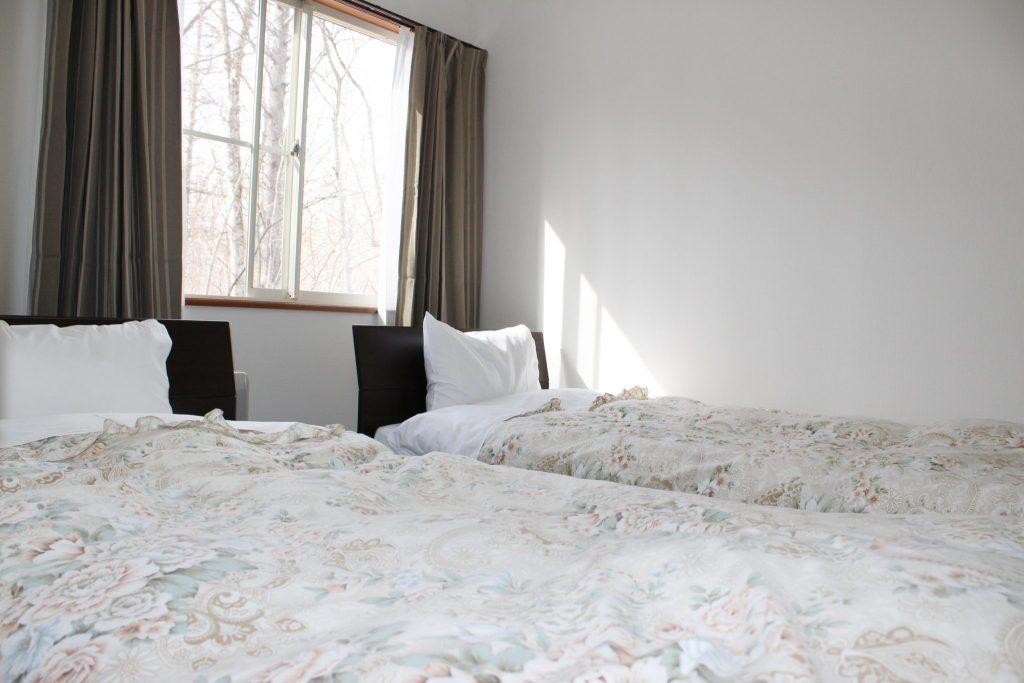 ロイヤルスィートタイプ「オーロラ」のツインベッドルーム