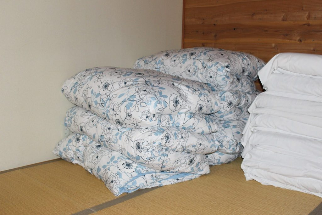 全寝具の上掛けは羽毛布団