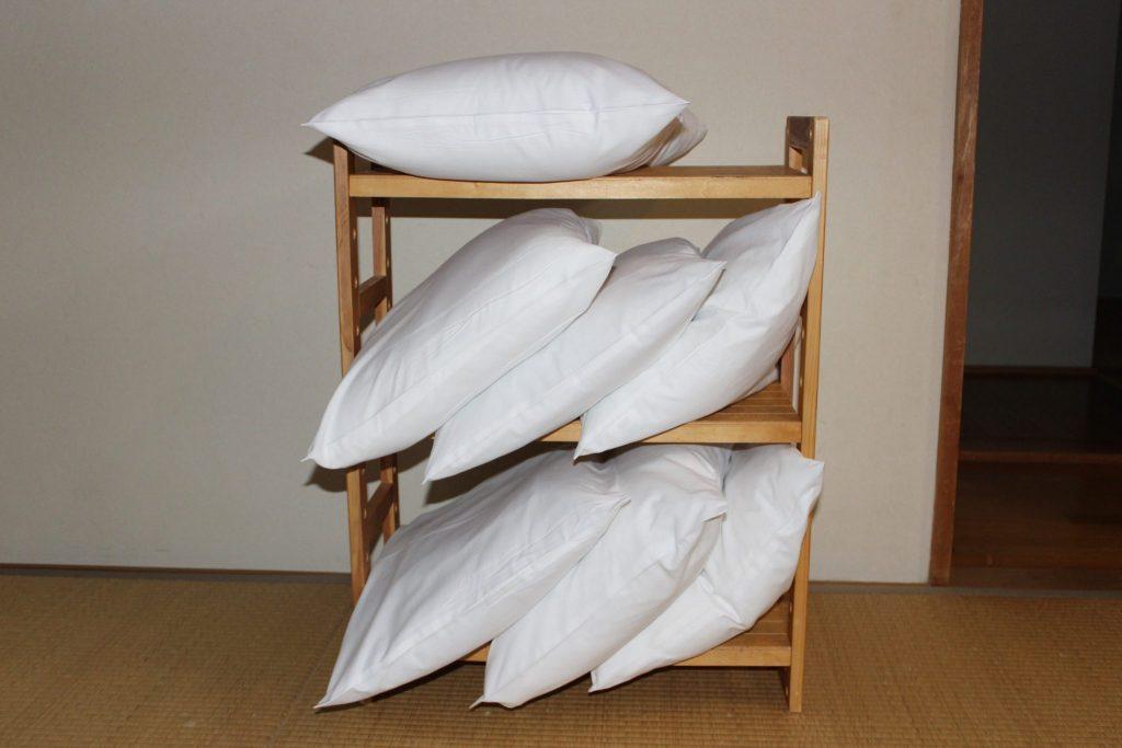 枕ピローケースを新調してお待ちしております。