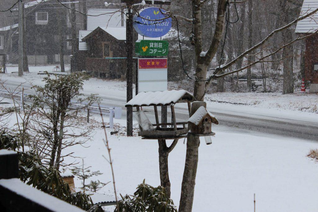 ルネス軽井沢の3月の大雪