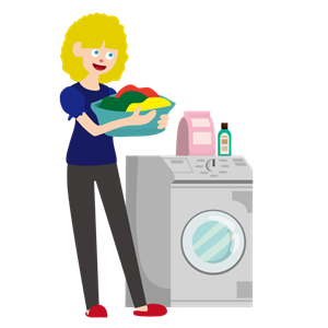 ルネス軽井沢のコテージで洗濯機で洗濯