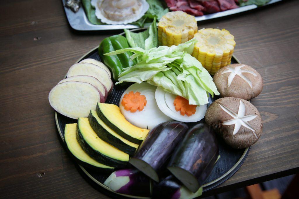 バーベキュースペシャル食材の高原野菜