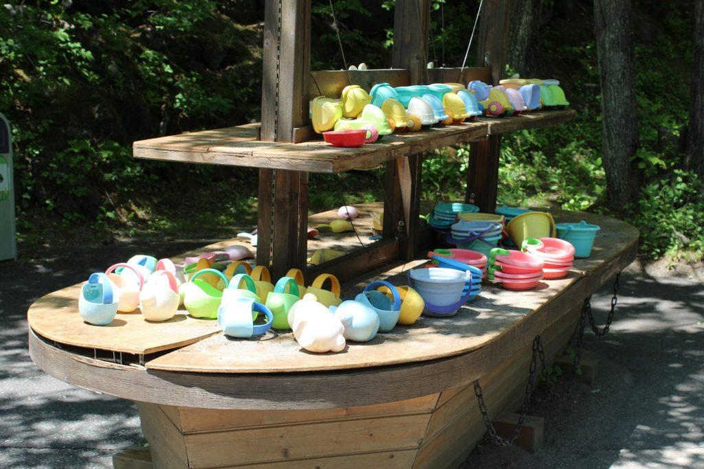 軽井沢おもちゃ王国のアスレチックエリア「砂の広場」
