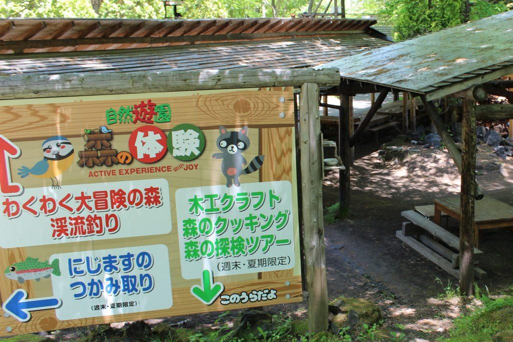 軽井沢おもちゃ王国の森の体験広場