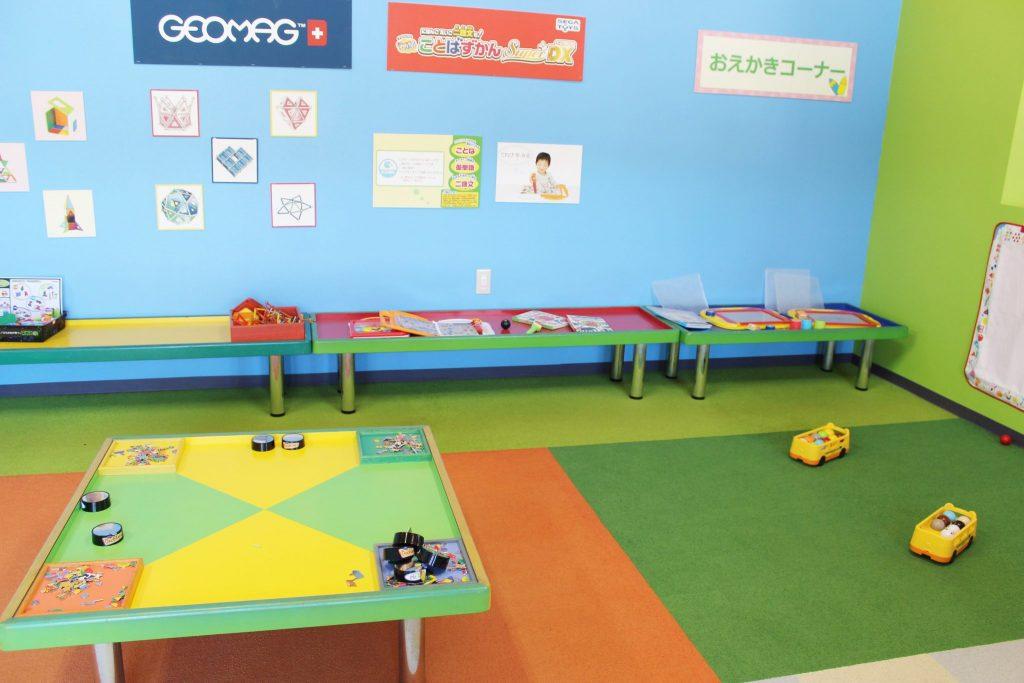 軽井沢おもちゃ王国のまなびの部屋内