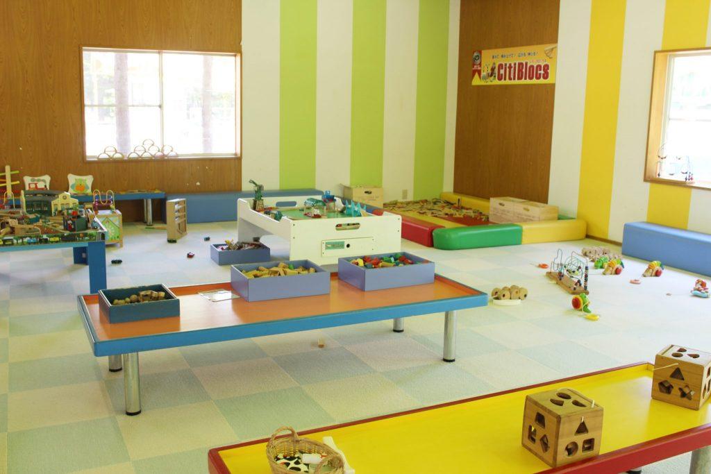 軽井沢おもちゃ王国の知育玩具コーナー