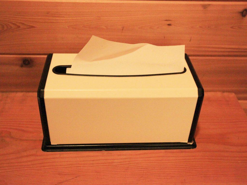 ルネス軽井沢の洗面所に常備されているペーパータオル