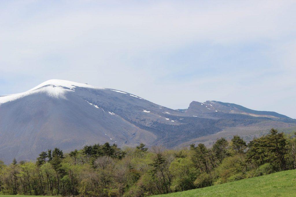 浅間牧場からの浅間山