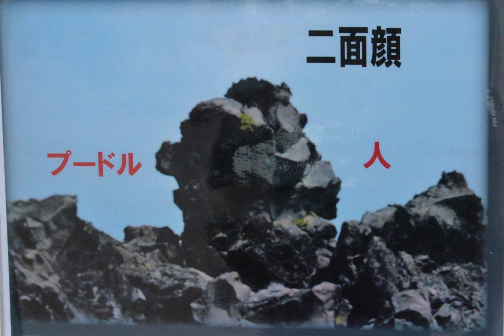 鬼押し出し園 おもしろ岩 二面顔
