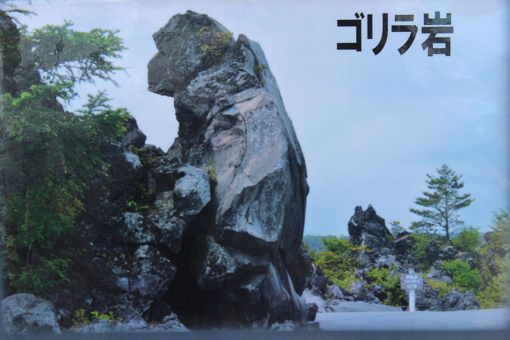 ルネス軽井沢から車で10分 鬼押し出し園 おもしろ岩 ゴリラ岩
