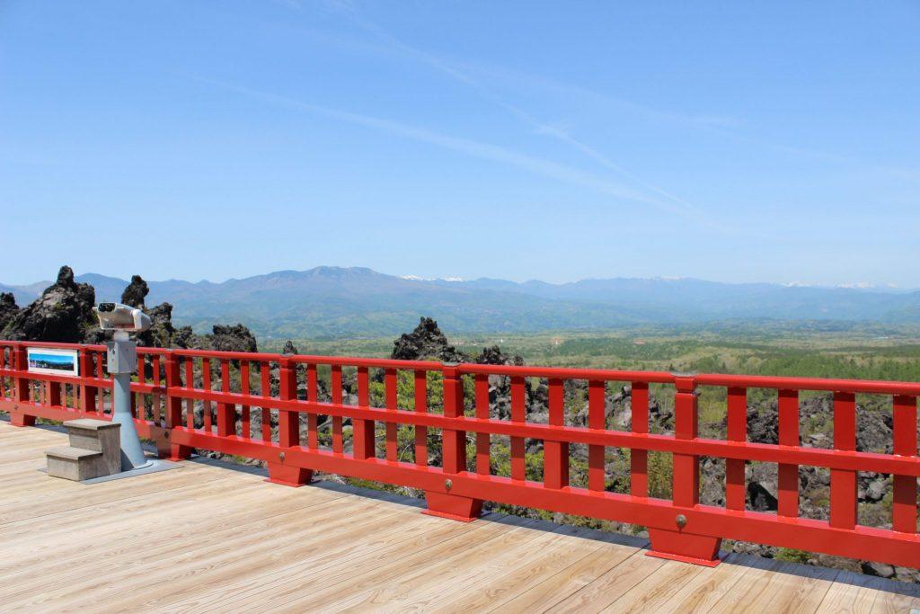 鬼押し出し園 「浅間山観音堂」からの眺望