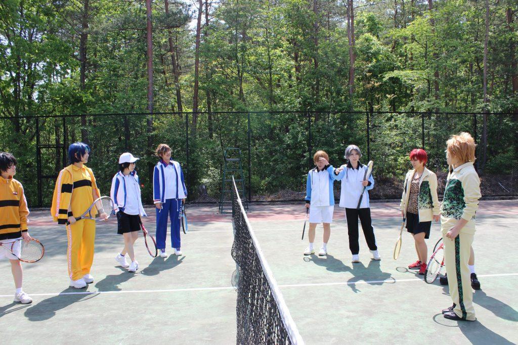 テニスの王子様のコスプレ撮影にテニスコートを利用