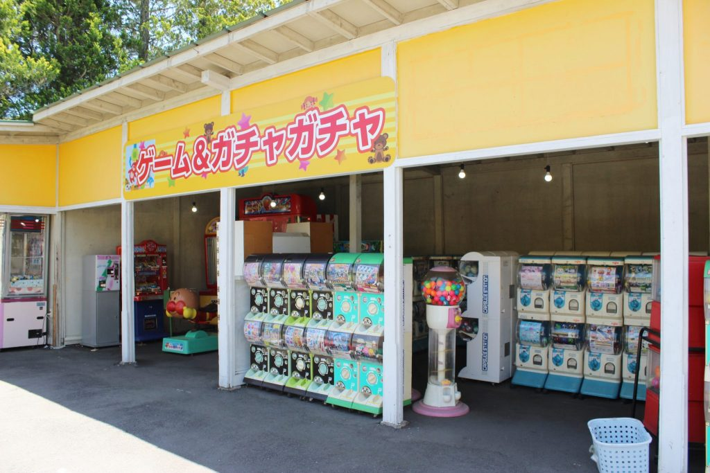 軽井沢おもちゃ王国のゲーム&ガチャガチャ