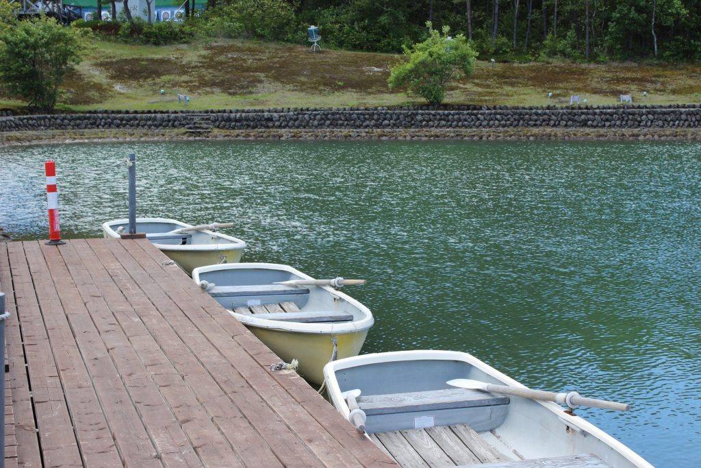 浅間ハイランドパークのボート乗り場