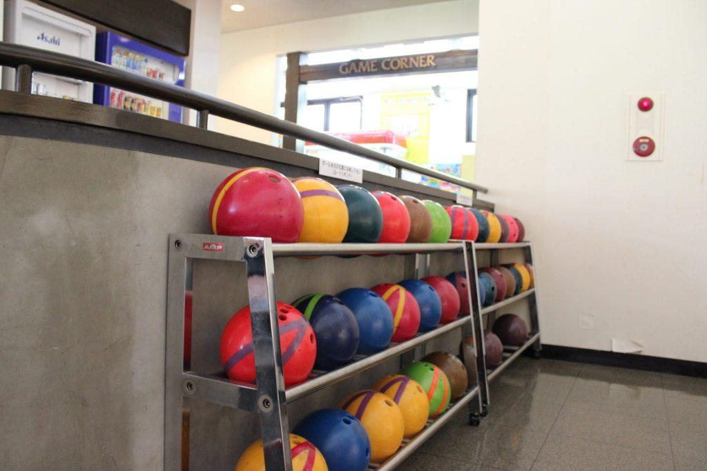 浅間ハイランドパークのボウリング場のボール