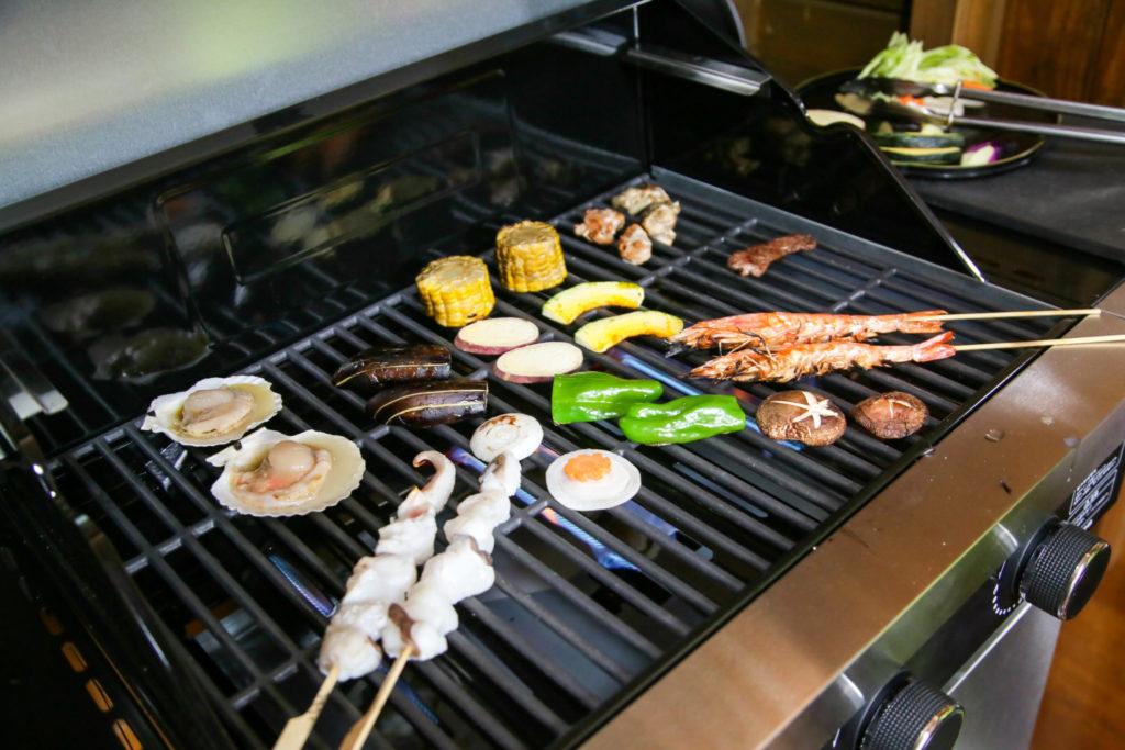 地元野菜と地産お肉のBBQ