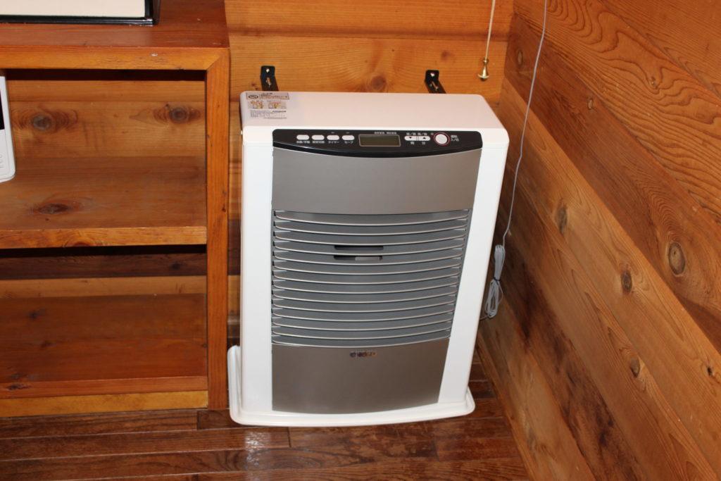 ログスィート「アン」の洗面所のヒーター
