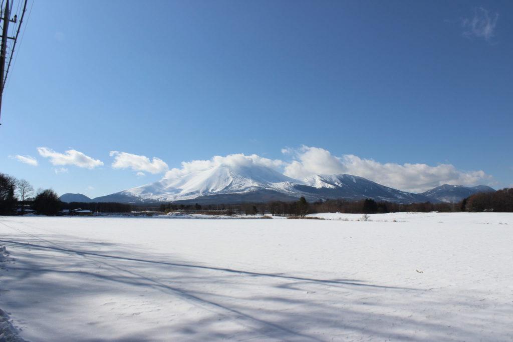 冬の浅間山(雪景色)