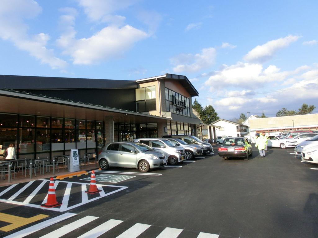 軽井沢デリシアの駐車場