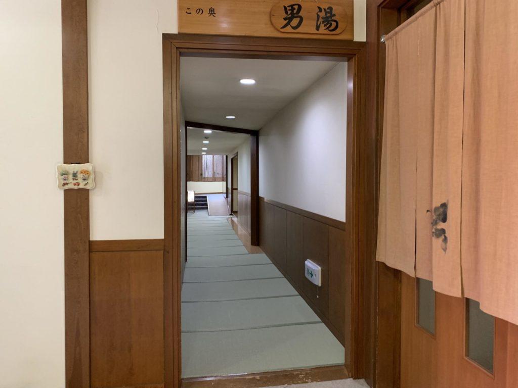 嬬恋高原温泉「つつじの湯」男湯入口