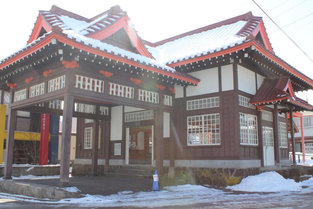 北軽井沢駅(草軽電鉄駅舎)冬の状況