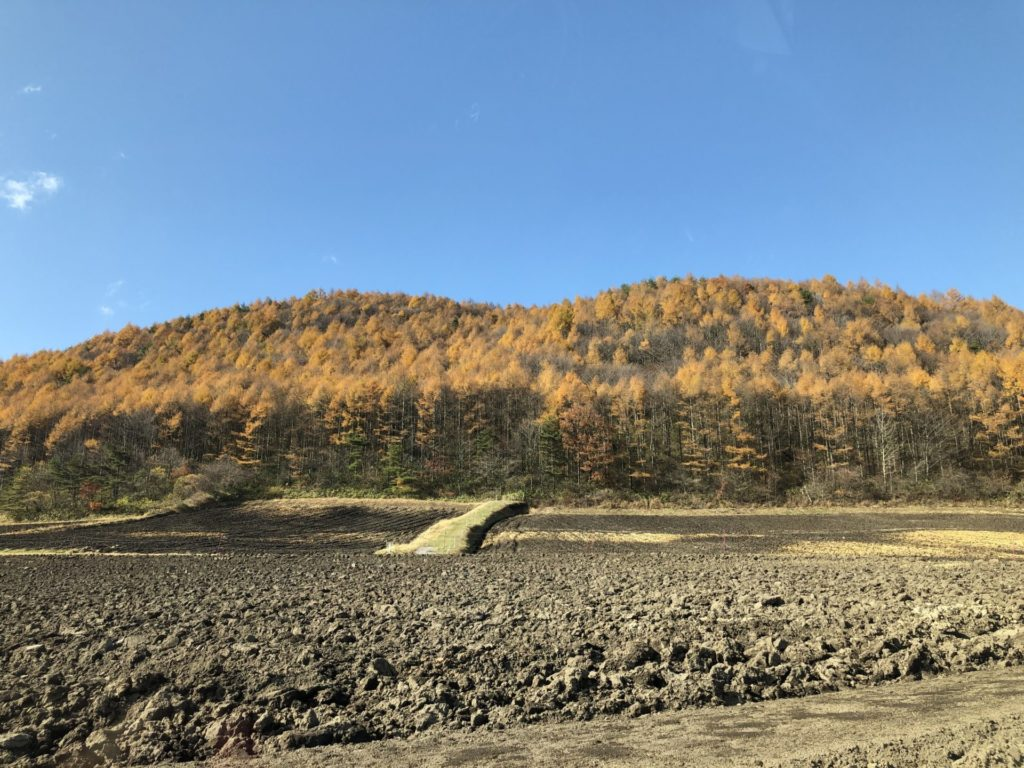 嬬恋高原温泉「つつじの湯」からの周辺尾眺め