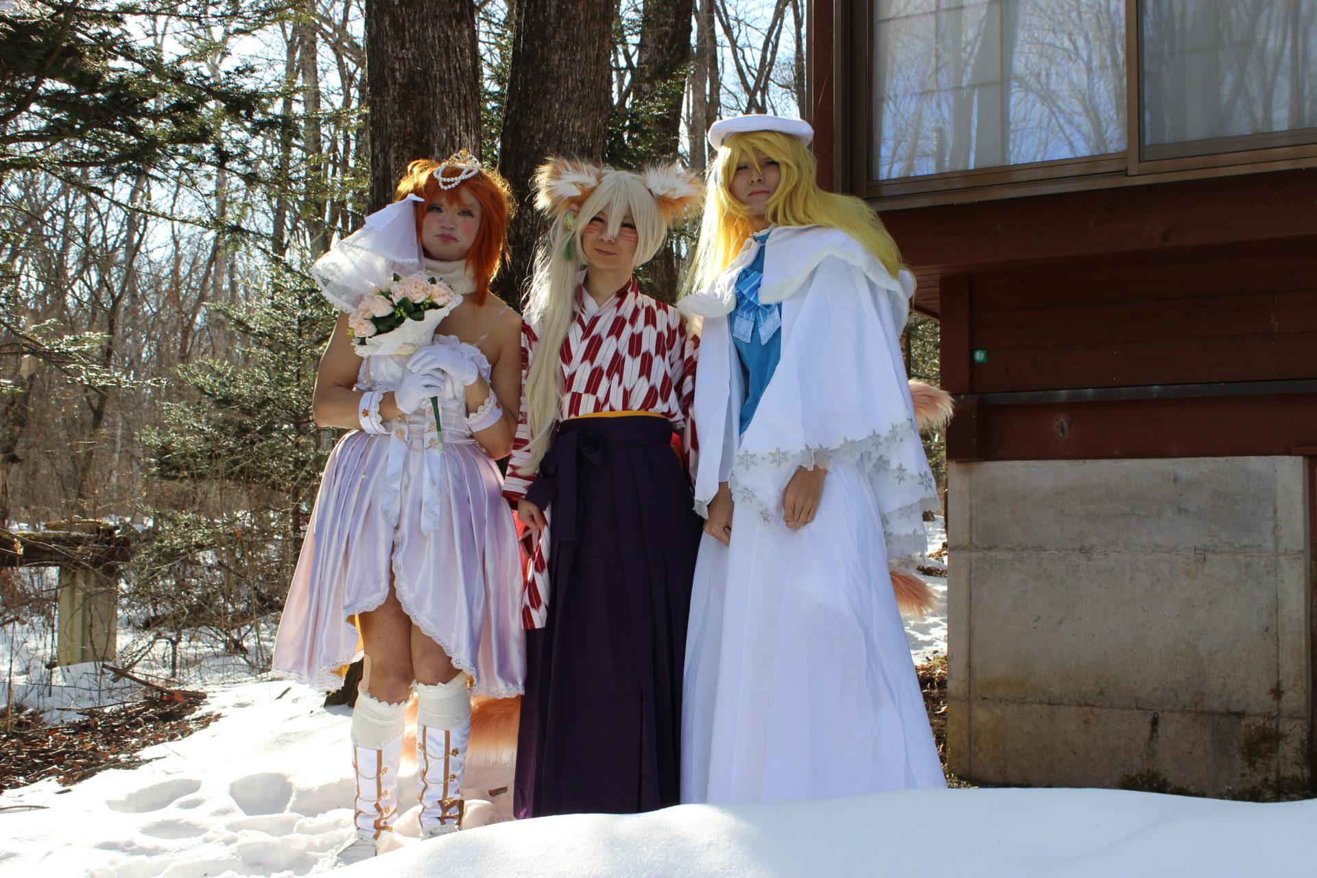 1月18日宿泊ラブライブ、Vtuber、九尾の狐のコスプレ