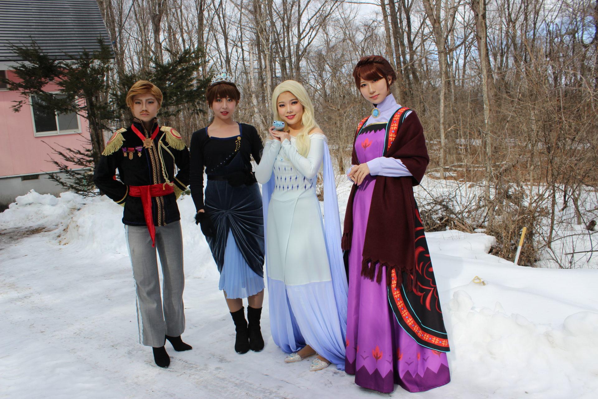 アレンデール王国の人々2020年2月7日コスプレ撮影貸別荘ルネス軽井沢のコテージ「エクセル」