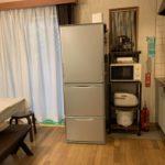 ルネス軽井沢のしおん星キッチンにある冷蔵庫