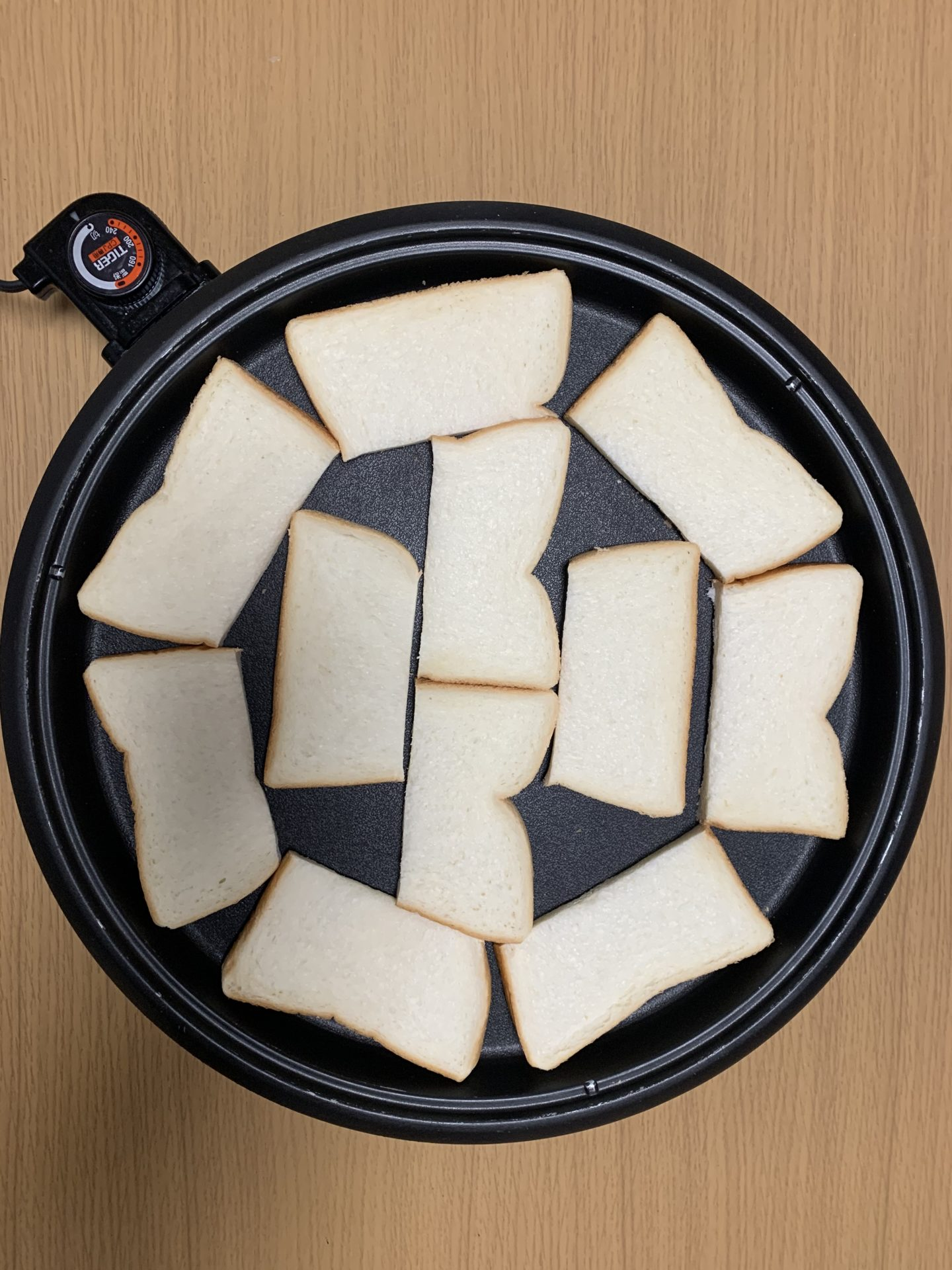 朝食トーストのホットプレート料理