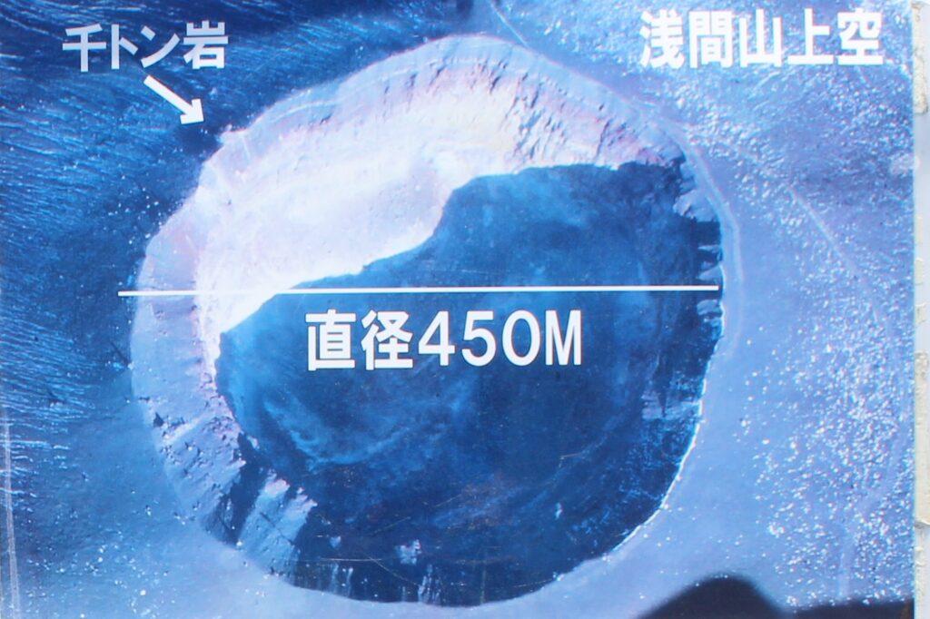 浅間山上空写真